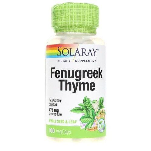 Solaray Fenugreek Thyme 475 mg  100 caps