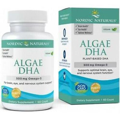 Nordic Naturals Algae DHA Plant-Based 500 mg Omega-3 60 ct.