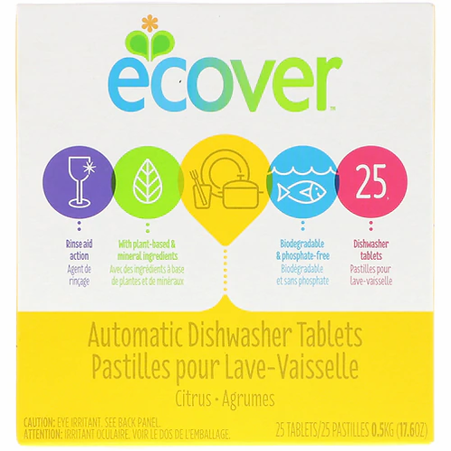 ecover Automatic Dishwasher Tablets   25 tabs