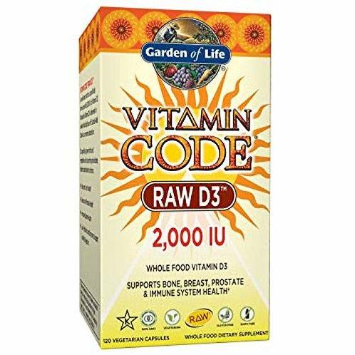 Garden of Life Vitamin Code RAW D3 2,000 IU 120 caps