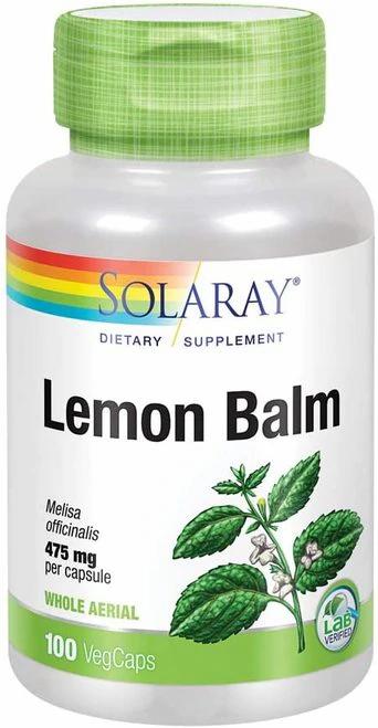 Solaray Lemon Balm 475 mg  100 caps