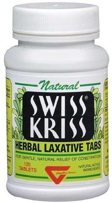 Natural Swiss Kriss Herbal Laxative Tabs  120 tabs