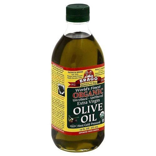 Bragg Organic Extra Virgin Olive Oil 16 oz (1 pt)