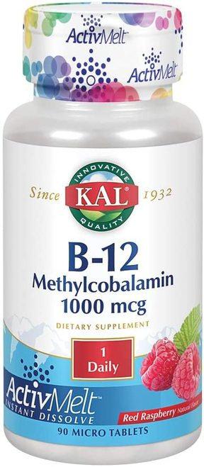 KAL B-12 Methylcobalamin 1,000 mcg Raspberry 1 Daily  90 micro tabs