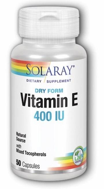Solaray Vitamin E Dry Form 400 IU  50 caps