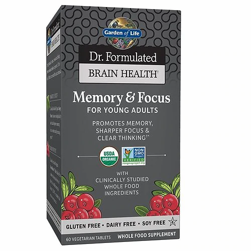 Garden of Life Dr. Formulated Brain Health Memory & Focus for Young Adults 60 ta