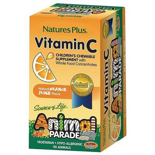 NaturesPlus Animal Parade Vitamin C Chewable Orange  90 tabs