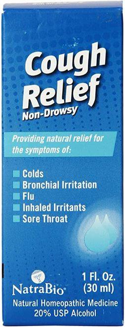 NatraBio Cough Relief Non-Drowsy  30 ml