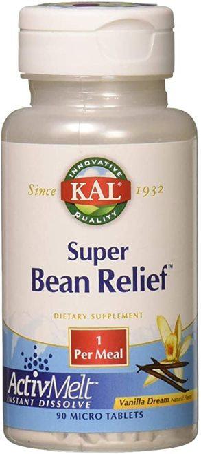 KAL Super Bean Relief Vanilla 1 per meal  90 micro tabs