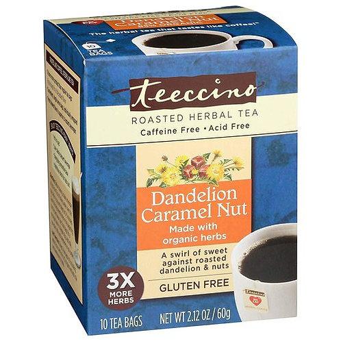 Teeccino Roasted Herbal Tea Dandelion Caramel Nut  10 bags