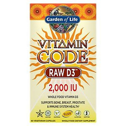 Garden of Life Vitamin Code RAW D3 2,000 IU 60 caps