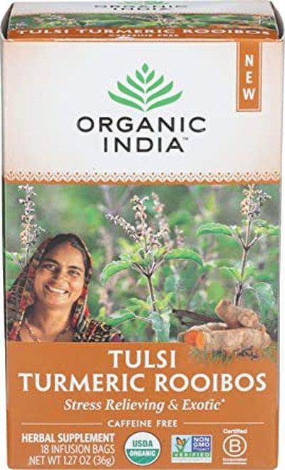 Organic India Tea Tulsi Turmeric Rooibos  18 bags