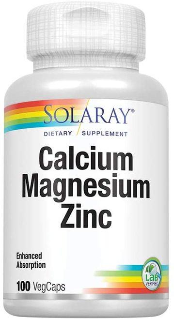 Solaray Calcium Magnesium Zinc  100 caps