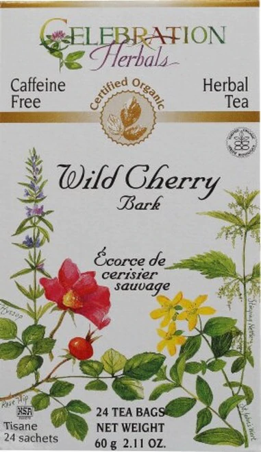 Celebration Organic Herbal Tea Wild Cherry Bark  24 bags
