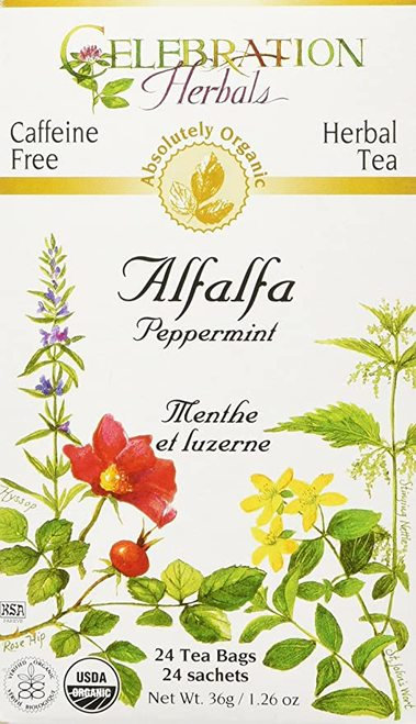 Celebration Organic Herbal Tea Alfalfa Peppermint  24 bags