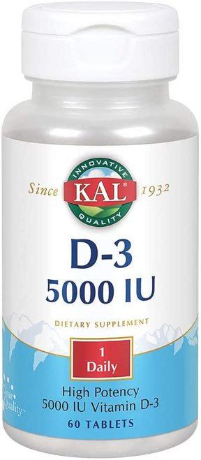 KAL D-3 5,000 IU 1 Daily  60 tabs