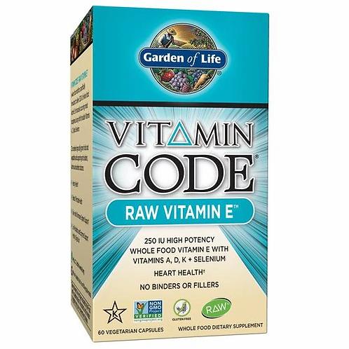 Garden of Life Vitamin Code RAW Vitamin E 60 caps
