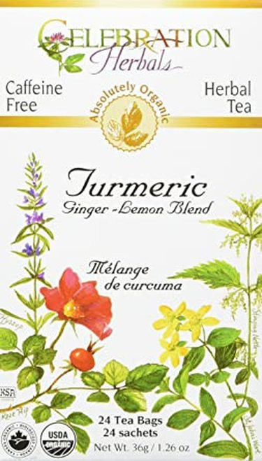 Celebration Organic Herbal Tea Turmeric Ginger-Lemon  24 bags