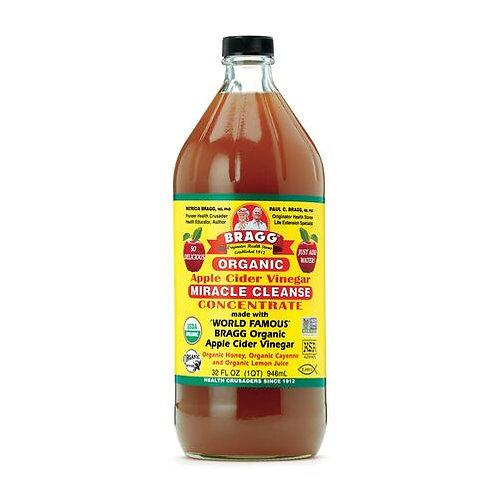 Bragg Organic Apple Cider Vinegar Miracle Cleanse 32 oz (1qt)