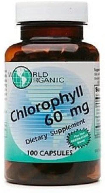 World Organic Chlorophyll 60 mg  100 caps