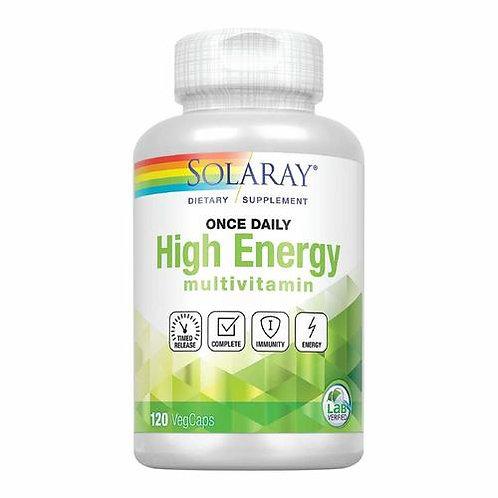 Solaray High Energy Multivitamin Once Daily  120 caps