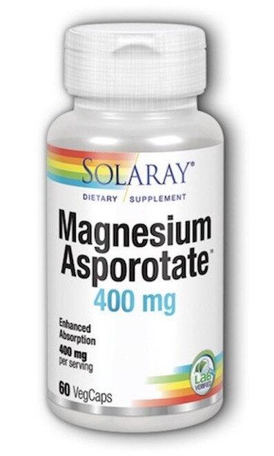 Solaray Magnesium Asporotate 400 mg  60 caps