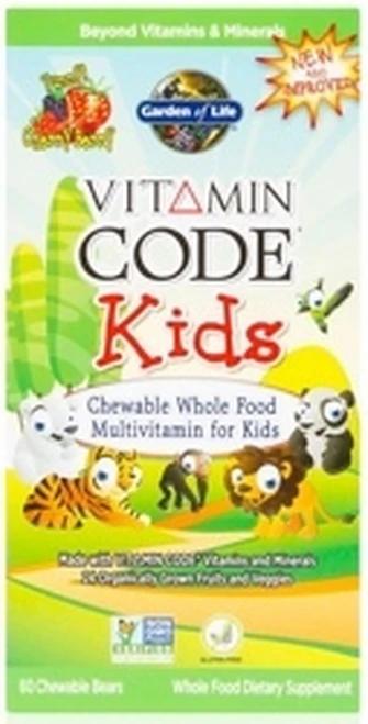 Garden of Life Vitamin Code  Kids Chewable 60 chews