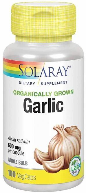 Solaray Garlic Organic NON-GMO 600 mg  100 caps