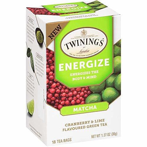 Twining's Tea Energize Matcha Cranberry & Lime  18 bags