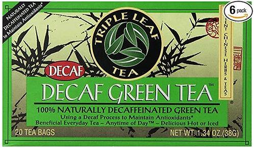 Triple Leaf Tea Decaf Green Tea  20 bags