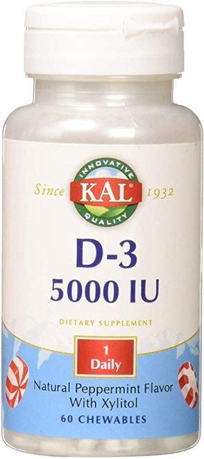 KAL D-3 5,000 IU Peppermint 1 Daily  60 chews