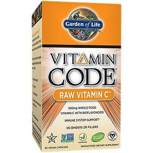 Garden of Life Vitamin Code RAW Vitamin C 500 mg 60 caps
