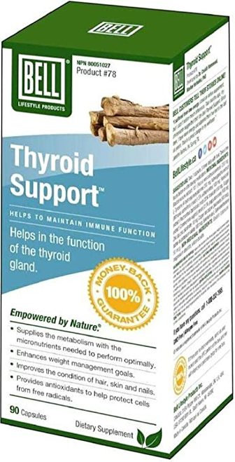 Bell Lifestyle Products Thyroid Support  90 caps