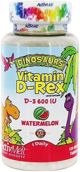 KAL Vitamin D-Rex d-3 600 IU Watermelon 1 Daily  120 micro tabs