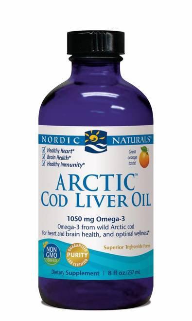 Nordic Naturals Arctic Cod Liver Oil 1060 mg Omega-3 8 oz.