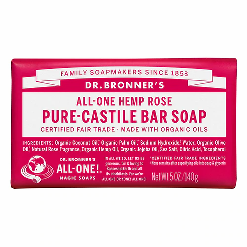 Dr. Bronner's Pure-Castile Bar Soap Rose  140 g