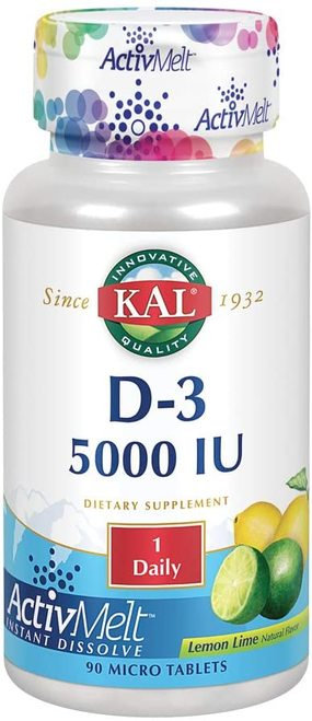 KAL D-3 5,000 IU Lemon Lime 1 Daily  90 micro tabs