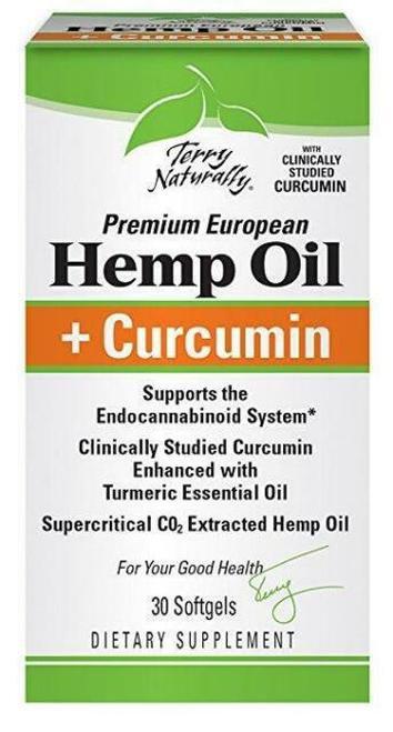Terry Naturally Hemp Oil + Curcumin 30 softgels