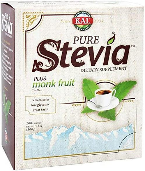 KAL Stevia Plus Monk Fruit 100 g  100 packets