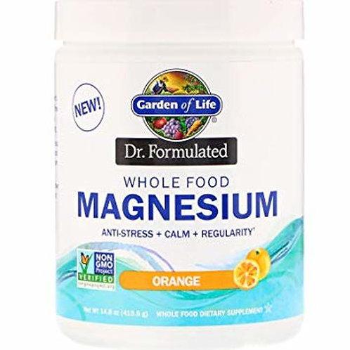 Garden of Life Dr. Formulated Whole Food Magnesium Orange 14.8 oz