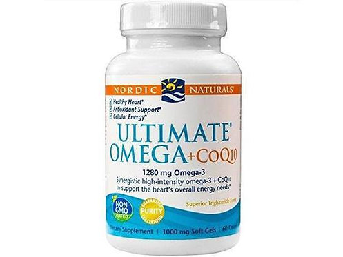 Nordic Naturals Ultimate Omega + CoQ10 1280 mg Omega-3 + 100 mg CoQ10 60 ct.