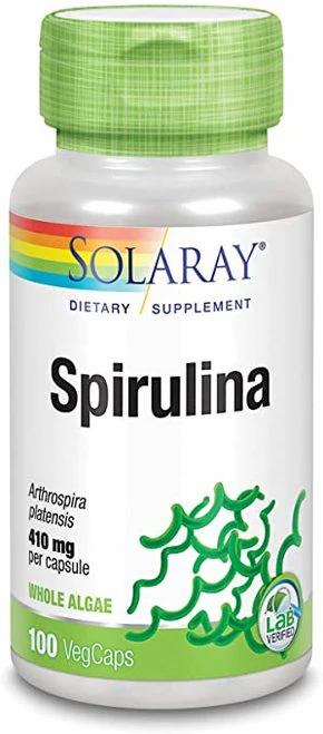 Solaray Spirulina 410 mg  100 caps