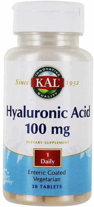 KAL Hyaluronic Acid 100 mg 1 Daily  30 tabs