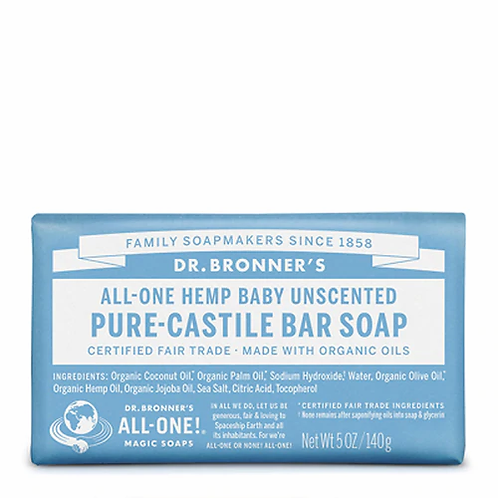 Dr. Bronner's Pure-Castile Bar Soap Baby Unscented  140 g