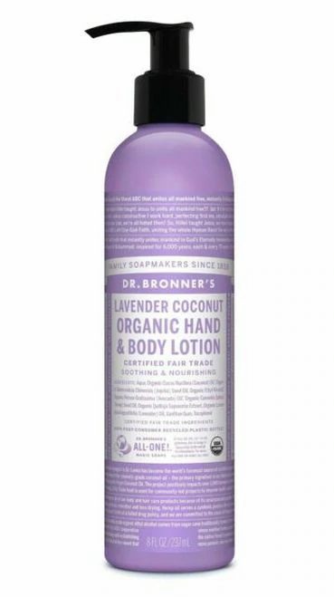 Dr. Bronner's Organic Hand & Body Lotion Pump Lavender Coconut  237 ml