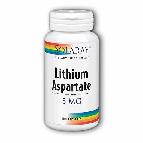 Solaray Lithium Aspartate 5 mg  100 caps