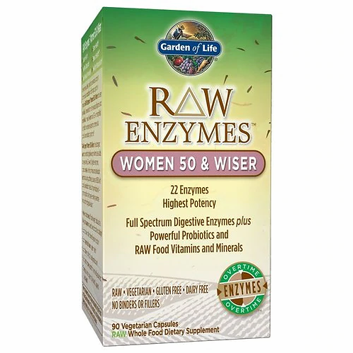Garden of Life RAW Enzymes Women 50 & Wiser 90 caps