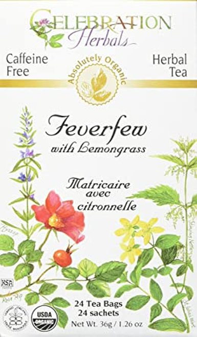 Celebration Organic Herbal Tea Feverfew with Lemongrass  24 bags
