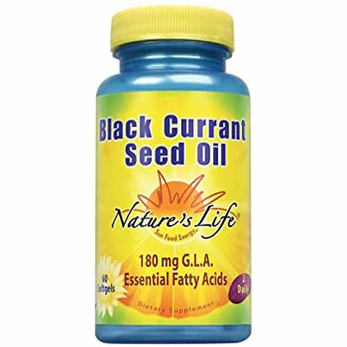 Nature's Life Black Currant Seed Oil 180 mg 2 Daily  60 softgels