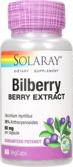 Solaray Bilberry Extraact 60 mg  60 caps